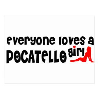 Carte Postale Chacun aime une fille de Pocatello