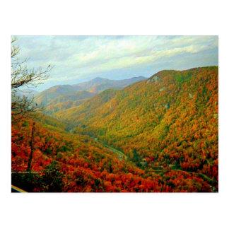Carte Postale Chaîne de montagne de Ridge bleu de la Caroline du