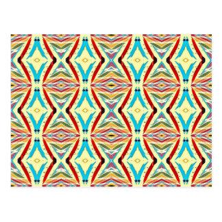 Carte Postale Chaînes abstraites multicolores. Motif géométrique