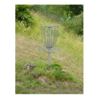 Carte Postale Chaînes d'un panier de golf de disque