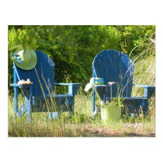 Carte Postale Chaises de jardin d'Adirondack