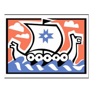 Carte Postale Chaloupe de Viking