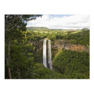 Carte Postale Chamarel Cascade-haut sur les Îles Maurice, plus