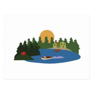 Carte Postale Chambre de lac