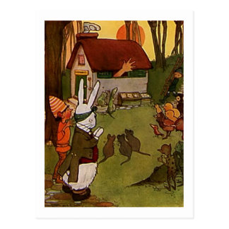 Carte Postale Chambre de lapins