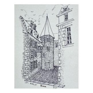 Carte Postale Chambre de princesse Anne de Saint-Malo de la