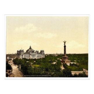 Carte Postale Chambre de Reichstag, avec la colonne triomphale,