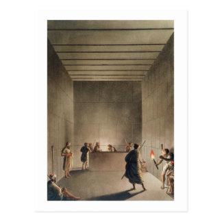 Carte Postale Chambre et sarcophage dans la grande pyramide du