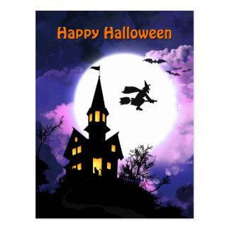 Carte Postale Chambre hantée effrayante Halloween heureux