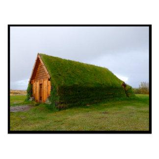 Carte Postale Chambre islandaise de gazon