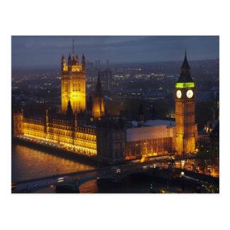 Carte Postale Chambres du Parlement, Big Ben, Westminster