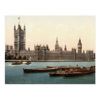 Carte Postale Chambres du Parlement, Londres c.1895