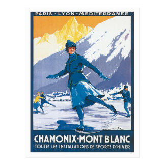 Carte Postale Chamonix vintage Mont Blanc