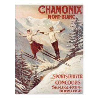 Carte Postale Chamonix vintage, Mont Blanc, France -