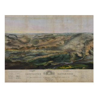 Carte Postale Champ de bataille de Gettysburg par John Bachelder