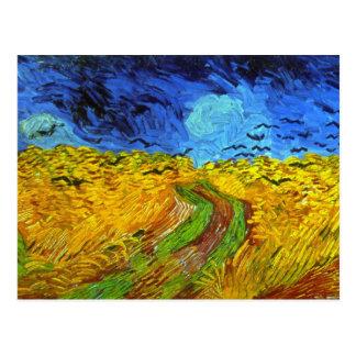 Carte Postale Champ de blé avec des beaux-arts de Van Gogh de