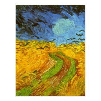 Carte Postale Champ de blé de Van Gogh avec des corneilles,
