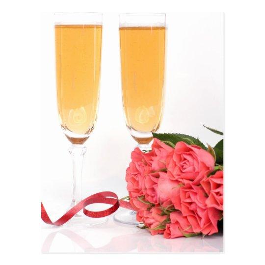 Carte Postale champagne flute
