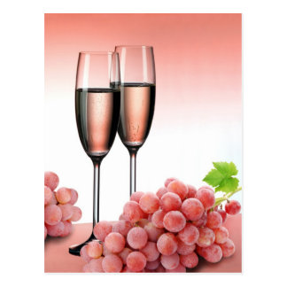 Carte Postale Champagne rose