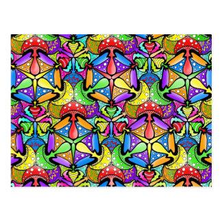 Carte Postale Champignons magiques