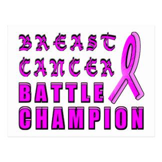 Carte Postale Champion de bataille de cancer du sein