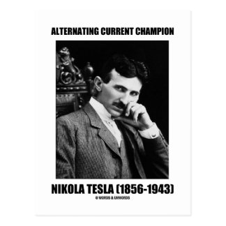 Carte Postale Champion Nikola Tesla de courant alternatif