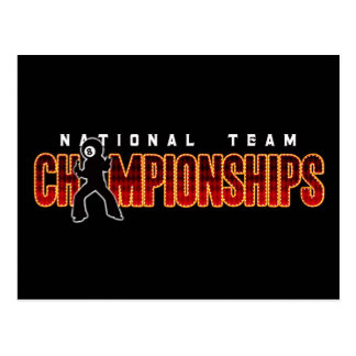 Carte Postale Championnats 2 d'équipe nationale
