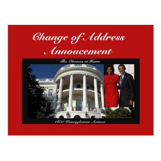 Carte Postale Changement d'adresse Annoucement