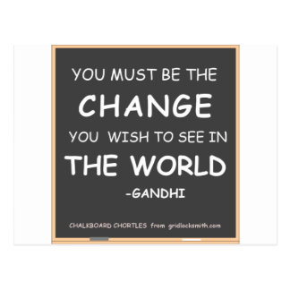 Carte Postale Changement-Monde-Gandhi