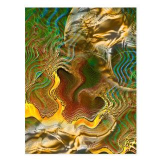 Carte postale :  Changements de la topographie
