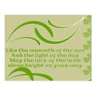 Carte Postale Changez la bénédiction couleur-Irlandaise