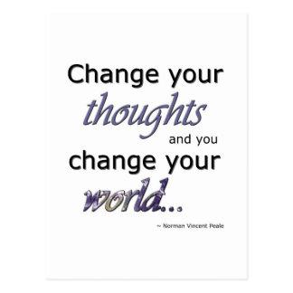 Carte Postale Changez vos pensées