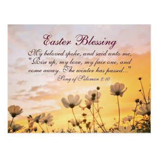 Carte Postale Chanson de bénédiction de Pâques de vers de bible