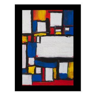 Carte Postale Chant avec Mondrian