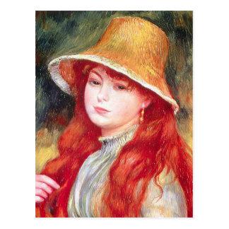 Carte Postale Chapeau de paille de Renoir