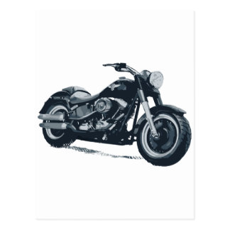 Carte Postale Chaque garçon aime une grosse moto américaine