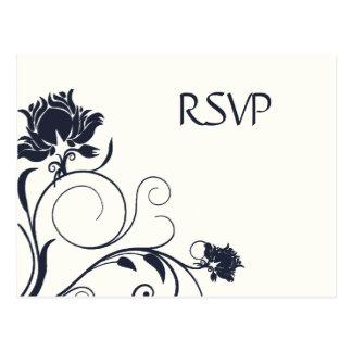 Carte Postale Chardon de marine épousant RSVP