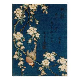 Carte Postale Chardonneret et cerisier de 葛飾北斎 de Katsushika