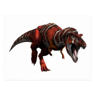 Carte Postale Charge de T-rex
