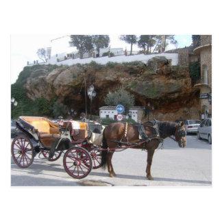 Carte Postale Chariot de cheval à Mijas