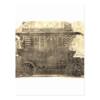 Carte Postale Chariot gitan vintage