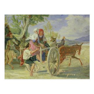 Carte Postale Chariot italien