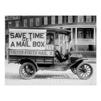 Carte Postale Chariot motorisé de courrier par le service de