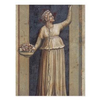 Carte Postale Charité par Giotto