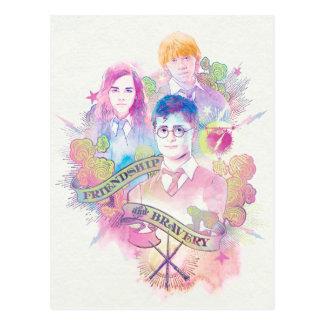 Carte Postale Charme | Harry, Hermione, et Ron Waterc de Harry