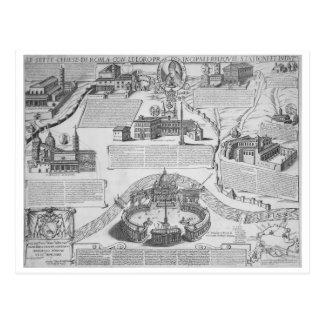 Carte Postale Charte Postalis Indulgentiae VII Ecclesiarum Urbis
