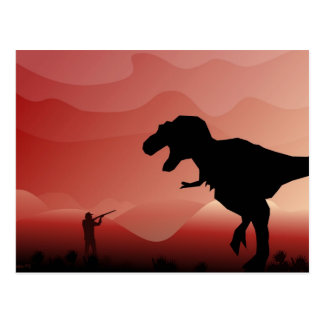 Carte Postale Chasse pour Dinos