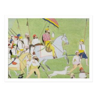 Carte Postale Chasses de Dhian Singh de raja 1796-1840) (avec le