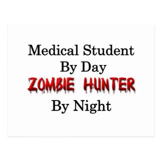 Carte Postale Chasseur d'étudiant en médecine/zombi