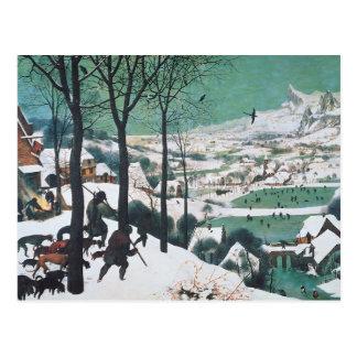 Carte Postale Chasseurs dans la neige par Bruegel